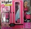 Barbie Modekoffer mit Puppe, Kleiderschrank, Gaderobe, BMC00-9553, 15 Teile